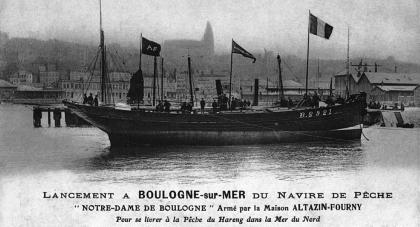 Navire de pêche Notre Dame de Boulogne