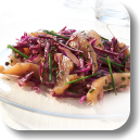 Salade de chou rouge et hareng fumé